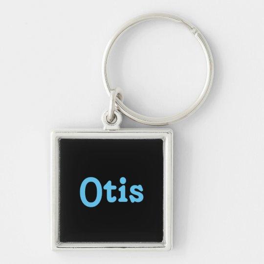 Schlüsselkette Otis Silberfarbener Quadratischer Schlüsselanhänger
