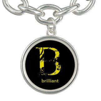 Schlüsselkettenbedeutung des Buchstaben B glänzend Armbänder