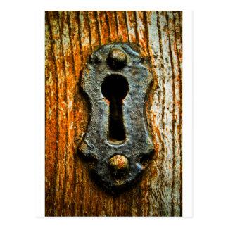 Schlüsselloch Postkarte