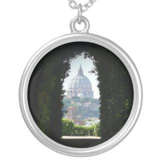 Schlüssellochansicht von St Peter Basilika Versilberte Kette