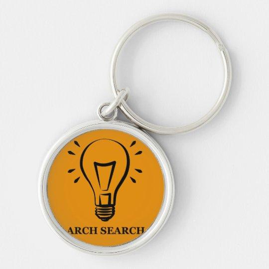 Schlüsselring 3,7cm Arch Search Silberfarbener Runder Schlüsselanhänger