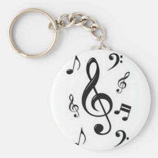 Schlüsselring musikalische Notenschlüssel Standard Runder Schlüsselanhänger