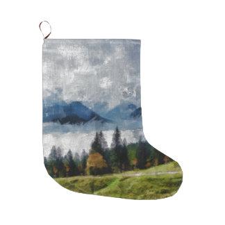 Schmaler Weg auf einem Hügel Großer Weihnachtsstrumpf