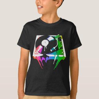 Schmelzende Turntable (Vintager beunruhigter T-Shirt