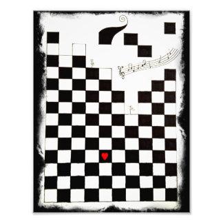 Schmelzendes Schachbrett Fotodrucke