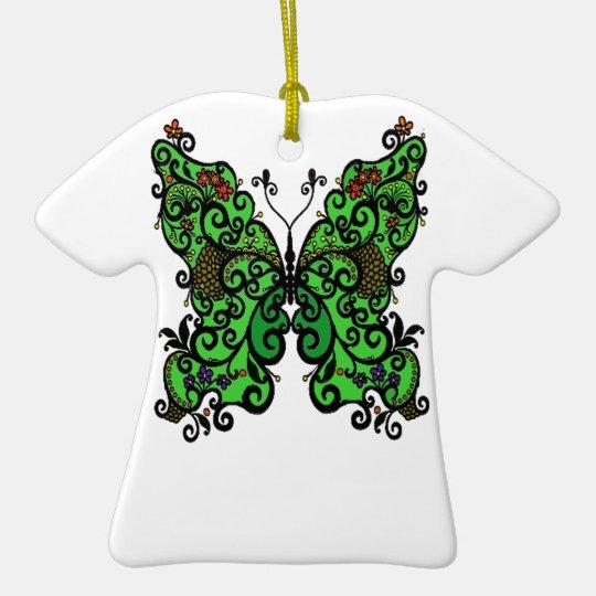 Schmetterling 1 keramik T-Shirt-Ornament
