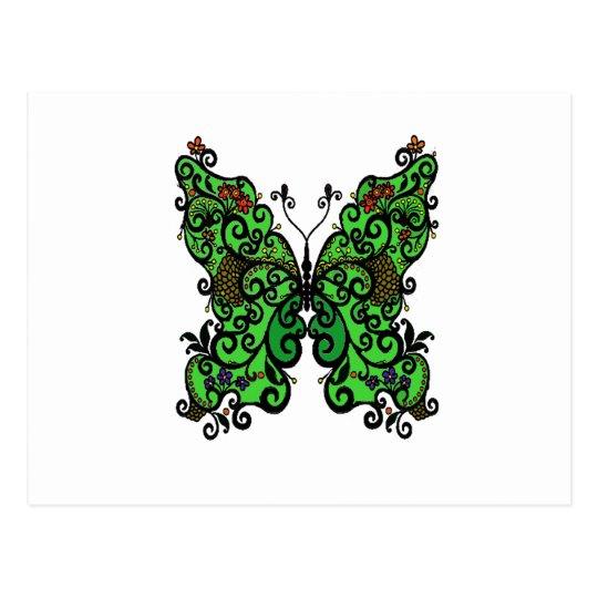 Schmetterling 1 postkarte