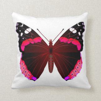 Schmetterling des roten Admirals Kissen