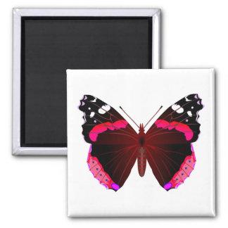 Schmetterling des roten Admirals Quadratischer Magnet