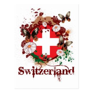 Schmetterling die Schweiz Postkarte