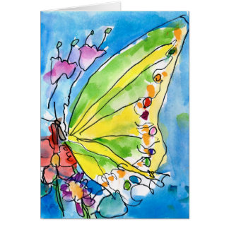 Schmetterling durch Jeffrey Shutt, Alter 6 Mitteilungskarte