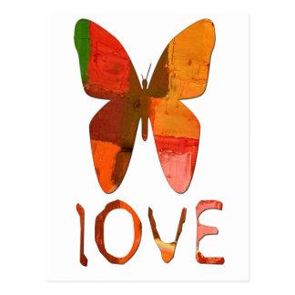Schmetterling gemalte Liebe Postkarte