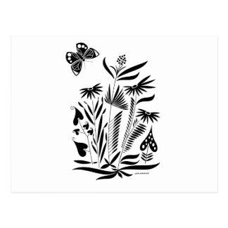 Schmetterling im Gras Postkarte