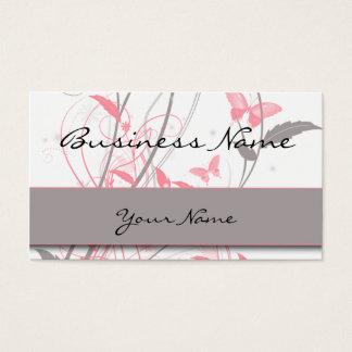 Schmetterling in der Geißblatt-Rosa-Visitenkarte Visitenkarte