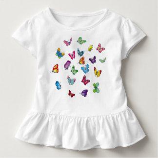 Schmetterling Kleinkind-Rüsche-T-Stück Kleinkind T-shirt