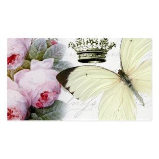 Schmetterling, Rosen und Krone Visitenkarten