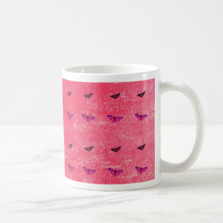 Schmetterling rosig tasse