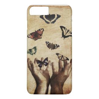 Schmetterling übergibt Natur traurigen iPhone 8 Plus/7 Plus Hülle