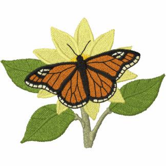 Schmetterling und Blume Kapuzenpulli