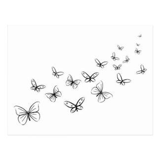 Schmetterlinge, die über die Seite tanzen Postkarten