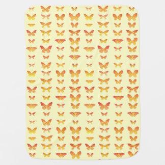 Schmetterlinge, Gelb, Gold und Orange Kinderwagendecke