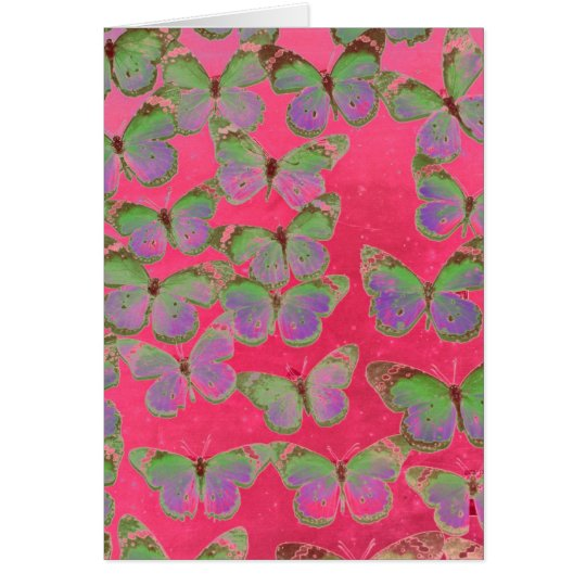 Schmetterlinge Grußkarte