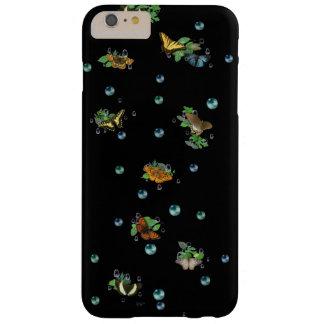 Schmetterlinge mit Blatt-Regentropfen und Perlen Barely There iPhone 6 Plus Hülle