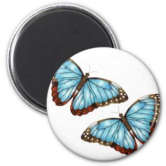 Schmetterlinge Runder Magnet 5,7 Cm