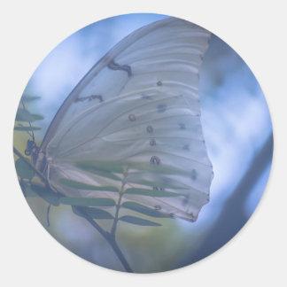 Schmetterlings-Aufkleber Runder Aufkleber