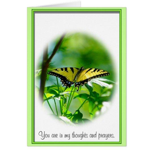 Schmetterlings-Beileids-Anmerkungs-Karte Mitteilungskarte