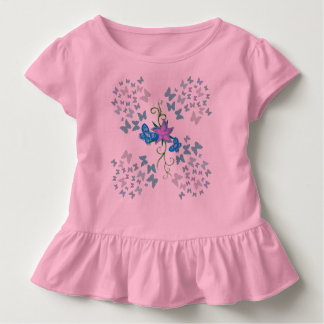 Schmetterlings-Blau Kleinkind T-shirt