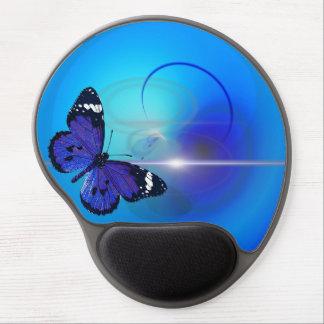 Schmetterlings-blaues Gel Mousepad