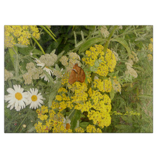 Schmetterlings-Blumen-Ausschnitt-Brett Schneidebrett