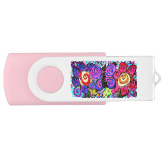 Schmetterlings-Blumenspaß Swivel USB Stick 3.0