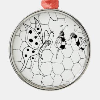 Schmetterlings-Cartoon 8922 Silbernes Ornament