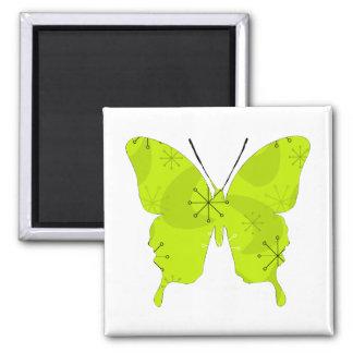 Schmetterlings-Collagen-Atomgrün Quadratischer Magnet