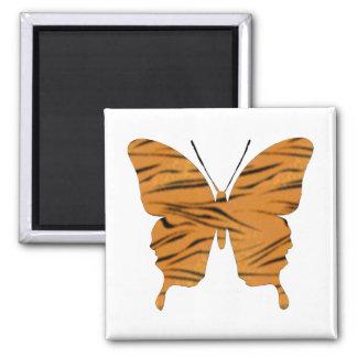 Schmetterlings-Collagen-Tiger-Streifen Quadratischer Magnet