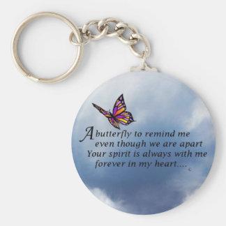 Schmetterlings-Denkmal-Gedicht Schlüsselanhänger