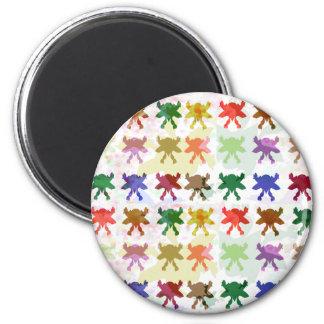 Schmetterlings-Drachen-Muster Runder Magnet 5,1 Cm