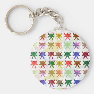 Schmetterlings-Drachen-Muster Standard Runder Schlüsselanhänger