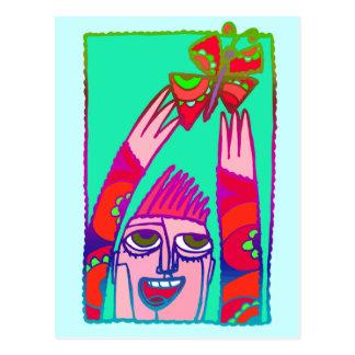 Schmetterlings-Entweichen Postkarte
