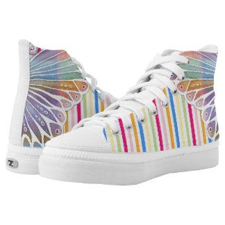 Schmetterlings-Farbe Hoch-geschnittene Sneaker