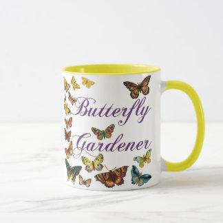 Schmetterlings-Gärtner-Sprichwort Tasse