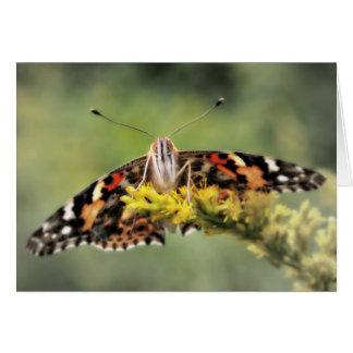 Schmetterlings-Glückwunsch-Karte Karte