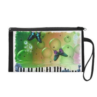 Schmetterlings-Klavier-Schlüssel Wristlet