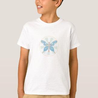 Schmetterlings-Kreuz T-Shirt