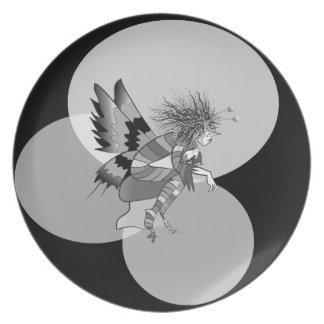 Schmetterlings-künstlerische Fantasie-feenhafter Teller
