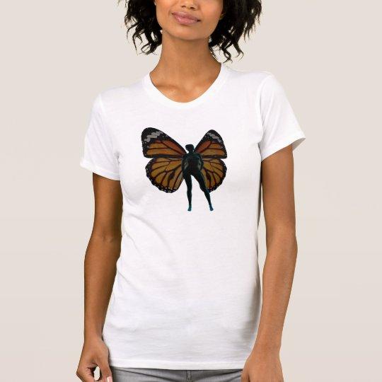 Schmetterlings-Mädchen T-Shirt
