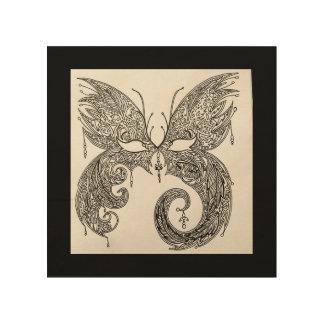 Schmetterlings-Maskerade-Maske Holzwanddeko