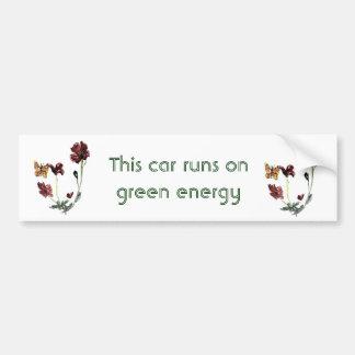 Schmetterlings-Mohnblumen-Blumen-Illustration Autoaufkleber